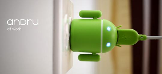 Android機械人USB叉電