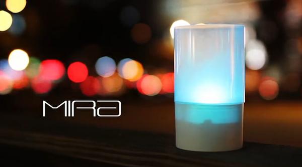 粉嫩極光色互動感應蠟燭MIRA
