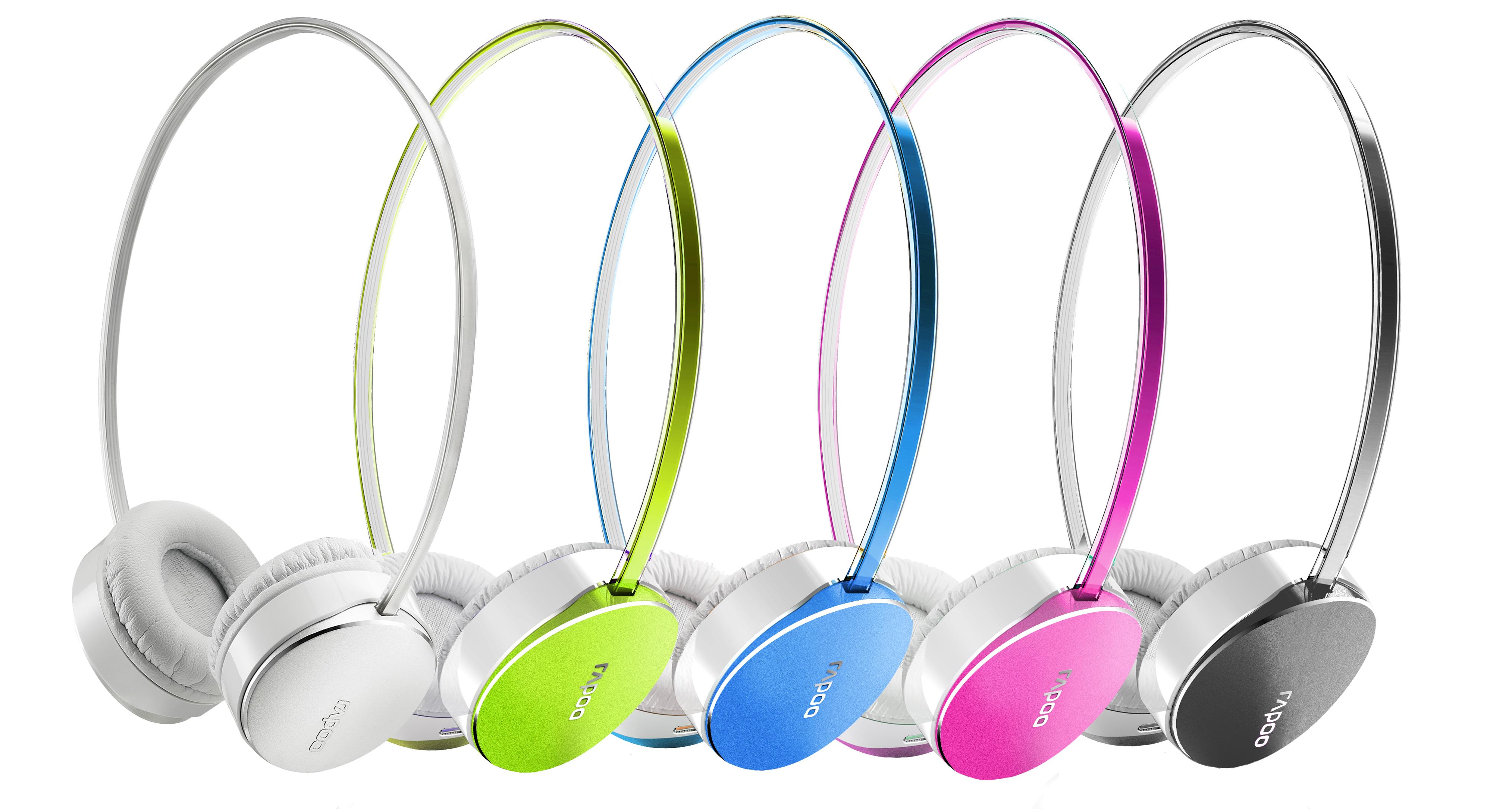 潮玩色彩 讓音樂點綴每天生活 Rapoo S500立體聲藍牙金屬耳機
