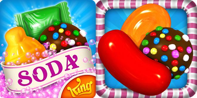 「Candy Crush Soda Saga: XXX sent you a request.」