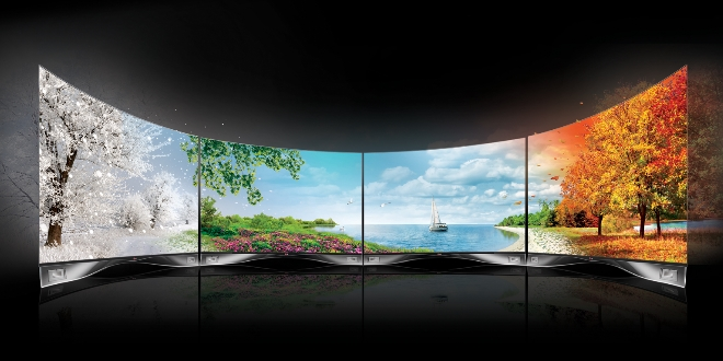 LG OLED貼牆 變「型」電視