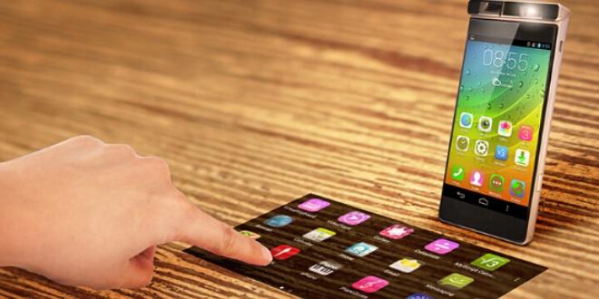 Lenovo投影手機       另類平面觸感