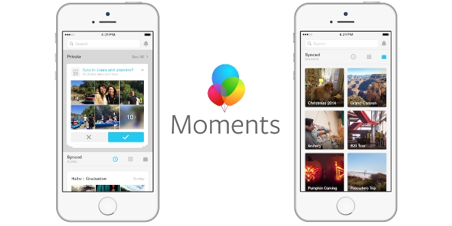 Facebook 同你分享 呢個「Moments」