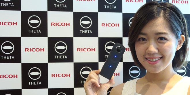 Ricoh 360度全景相機Theta S 實時觀看 影相唔駛估估吓