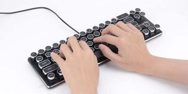 打字機借屍還魂 變復古式鍵盤